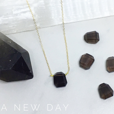 A New Day - Faceted Smokey Quartz