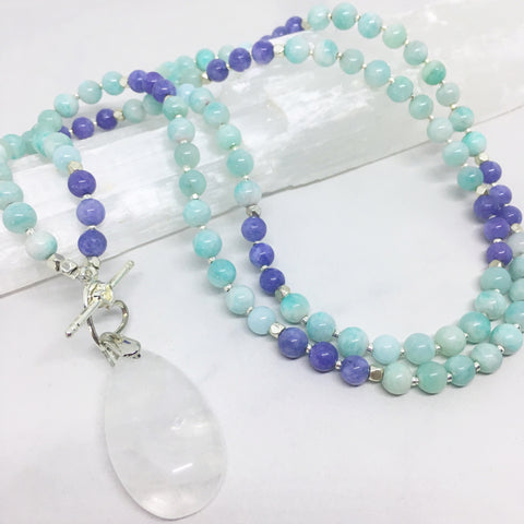 Soothe - Angelite and Amazonite Mini Mala
