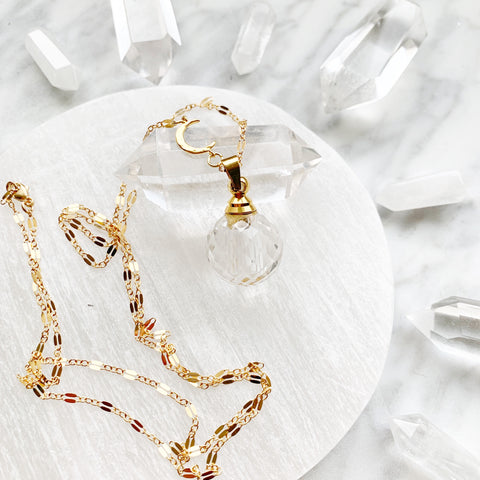 Joy - Crystal Perfume/Oil Necklace