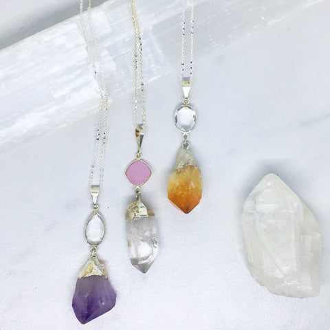 She Endures Crystal Collection in Amethyst Rose Quartz and Citrine