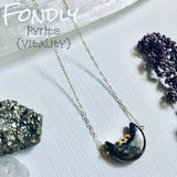 Fondly - Pyrite Crescent Moon