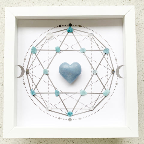 Sleep Sweet - Angelite and Aquamarine Crystal Grid