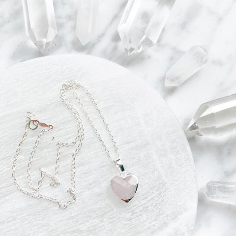 Gemstone Heart Necklace