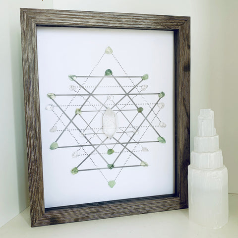 Heal - Prehnite & Crystal Grid