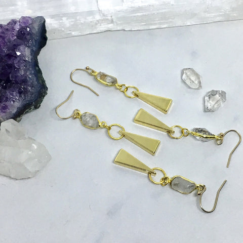 Herkimer Tri-dangle Earring