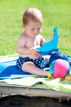 Aqua/Swim Nappy - navy polka dot