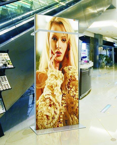 Double Sided LED Frameless Fabric Series Display Stand