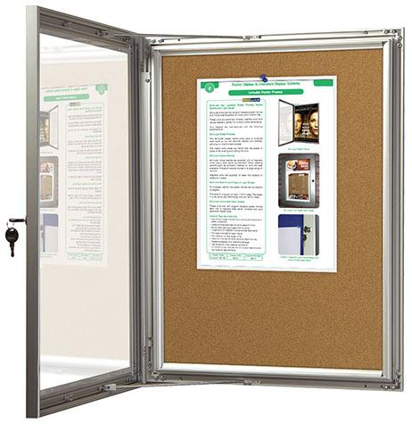 SlimLock Key Lockable Cork Notice Boards