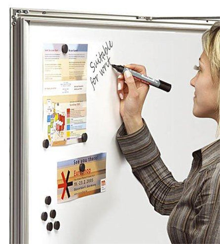 SlimLock Key Lockable Magnetic Notice Boards