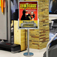 Stainless Steel Poster Stand