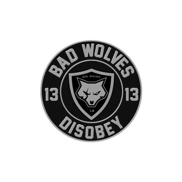 Wolf Shield Logo Disobey Patch