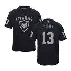 Black & Silver Football Jersey