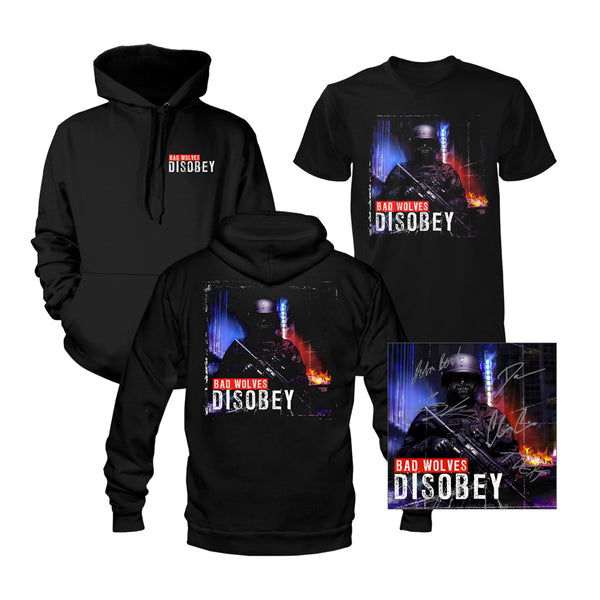 Signed Disobey CD + Tee + Hoodie Bundle