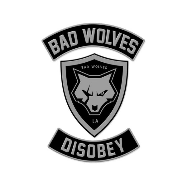 Wolf Shield Disobey Rocker Patch Set