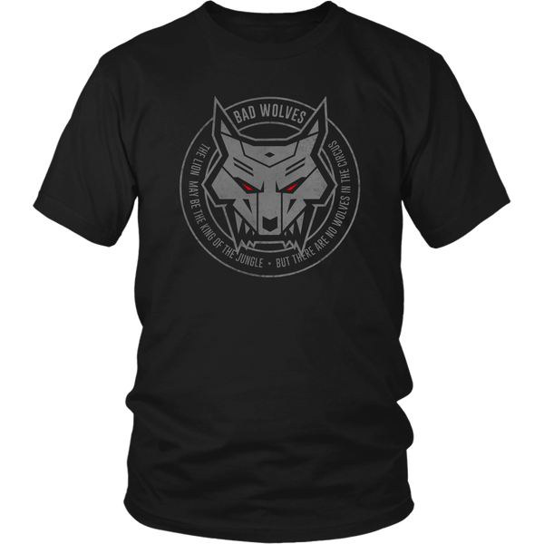 Wolf Emblem Ladies Tee Early Black Friday 2018 Bad Wolves Store