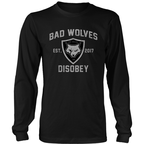 Disobey Athletic Black Long Sleeve Tee