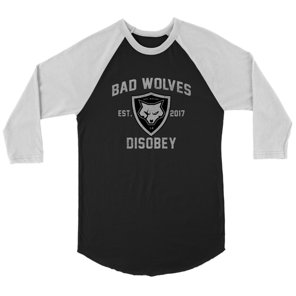 Disobey Athletic Black/Grey Raglan