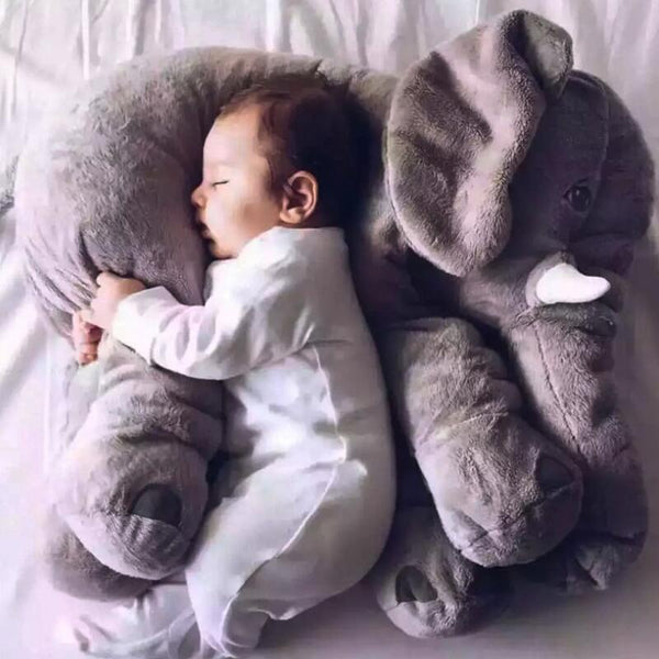 Soft Plush Elephant Pillow & Toy