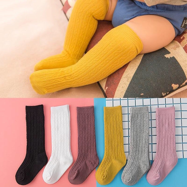 Cable-Knit Knee-High Socks 0-4T