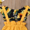 Image of Sunflower Ruffles Crop Top