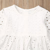 Image of Girls White Isabella Lace Outfit