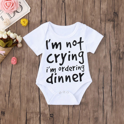 """I'm not crying, I'm ordering dinner"" Romper"
