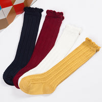 Leena Combed Cotton Twist Knee Socks 0-3T