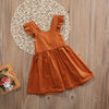 Ruffle Tie-Back Pinafore Dress 12M-4T
