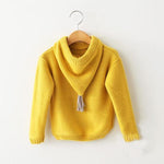 Tassel Hood Knit Pull-Over Sweater 24M, 3T, 4T, 6 & 7
