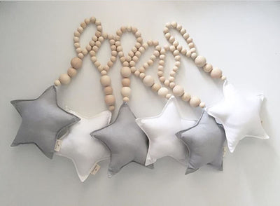 Nordic Wooden Beads And Plush Photography Prop And Room Decor
