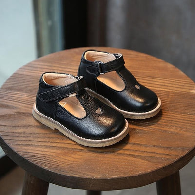 Classic Leather Mary Jane T-Bar Loafers