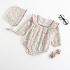 Image of 2 Pcs Clara Vintage Bubble Romper + Bonnet Set