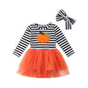 Stripe Pumpkin Tutu Dress