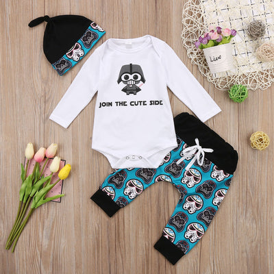 3 Pcs 'Join The Cute Side' Set 3-18M