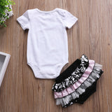 Cute Lace Shorts Ruffles Clothing 2 pcs set