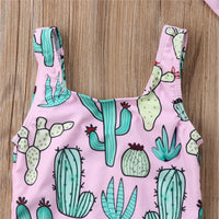 2 Pcs Cactus Swimsuit 3-24M