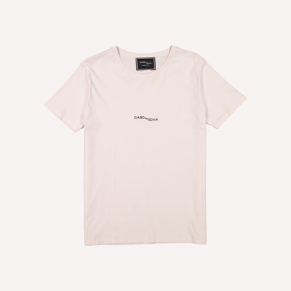 embroidered casanova cream t-shirt