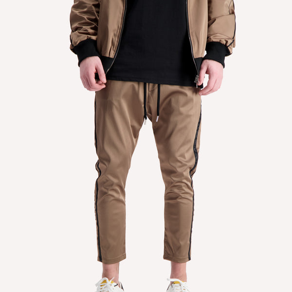 acetate gold track pants