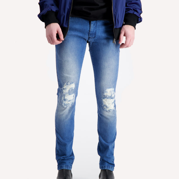casanova c2 slim distressed blue jeans