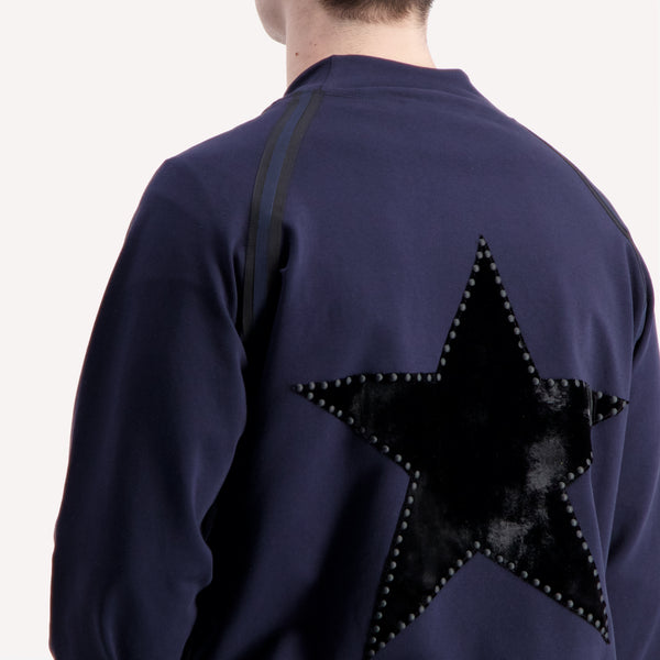 studded star blue jacket