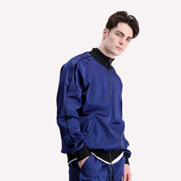 ACETATE BLUE TRACK JACKET