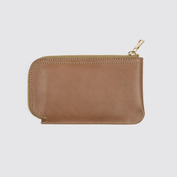 Long Zip Billfold Natural Chromexcel