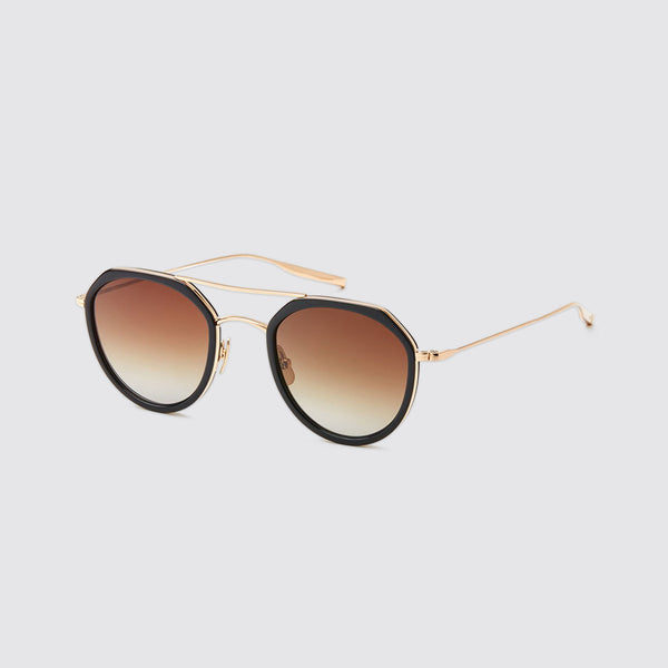 Dibergi Polarized Sunglasses Black & Honey Gold