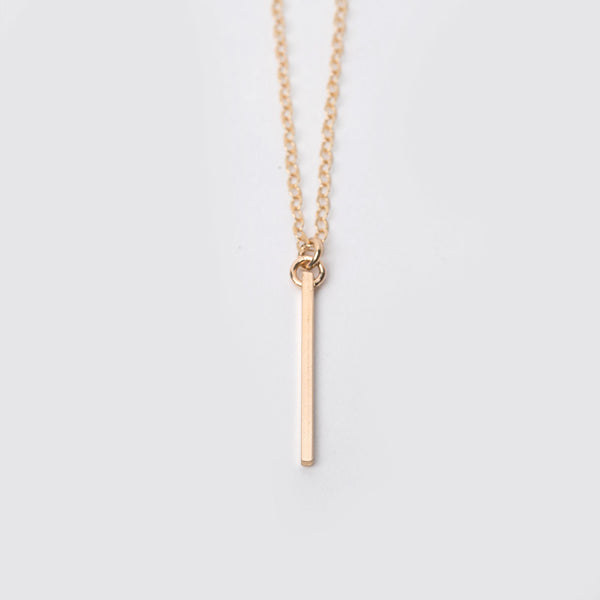 14K Gold Fill Mini Bar Necklace