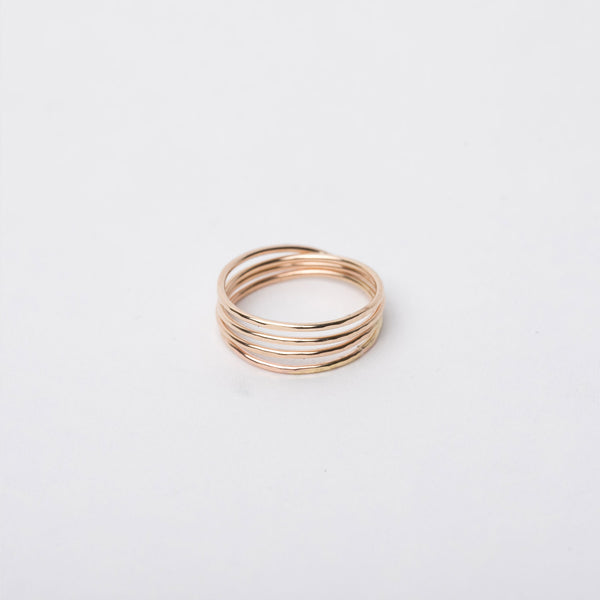 14K Gold Fill Multi-Band Ring