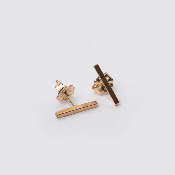 14K Gold Fill Bar Studs