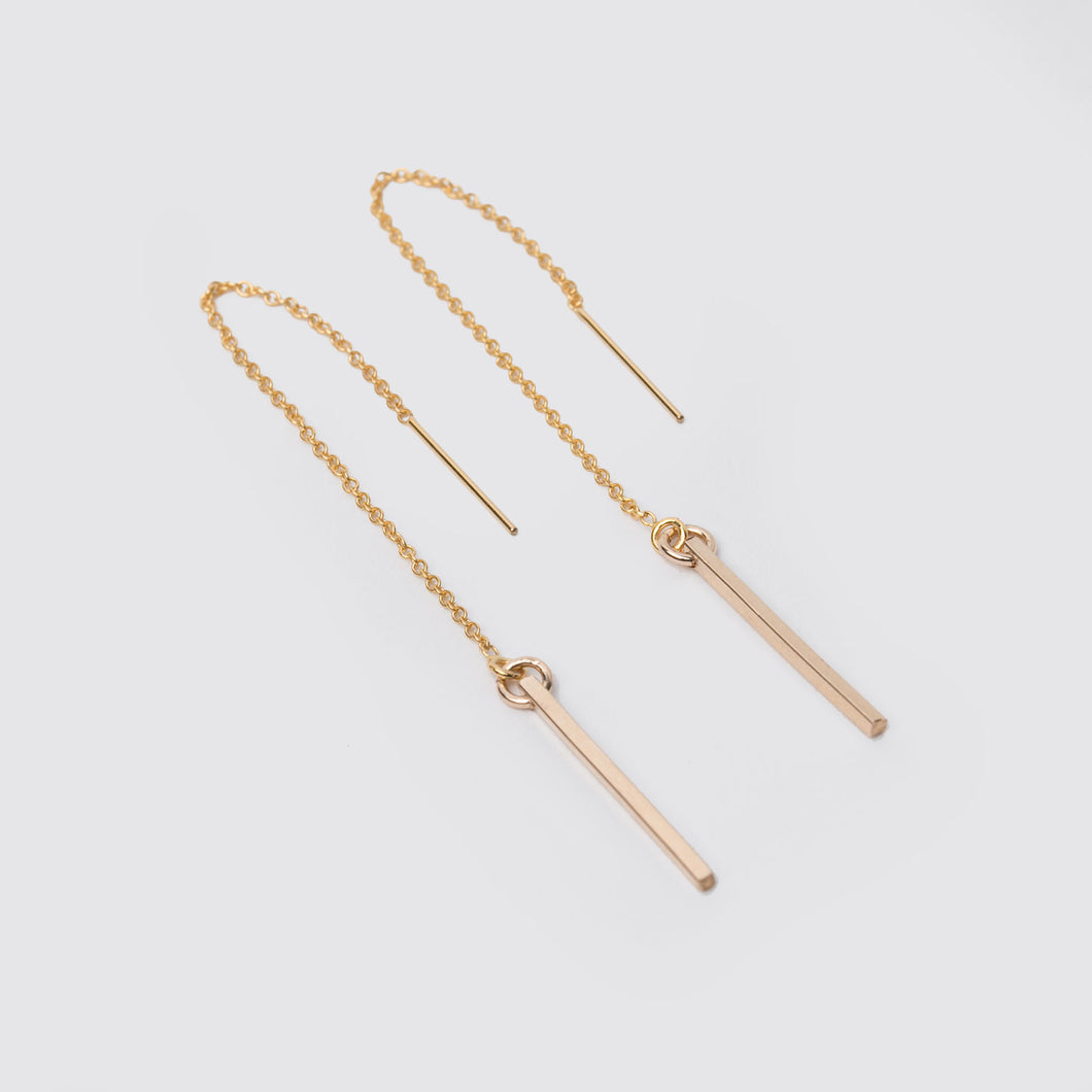 14K Gold Fill Bar Threaders