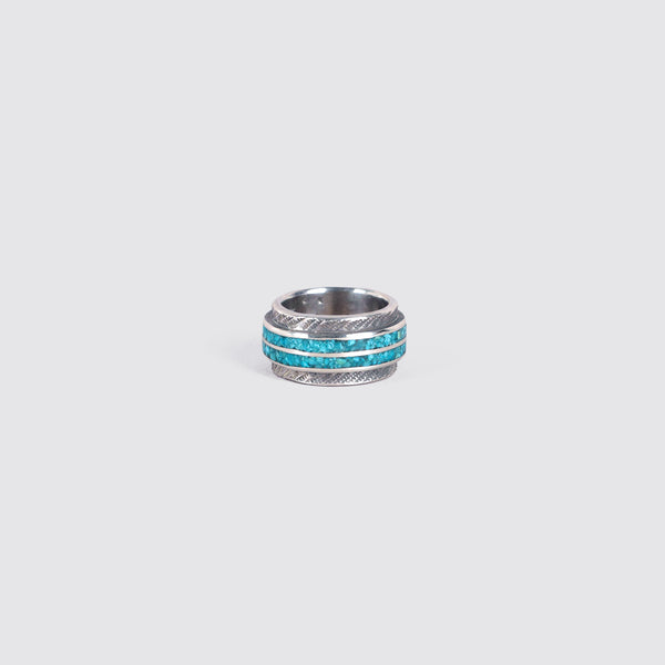 Thick Inlaid Turquoise Ring