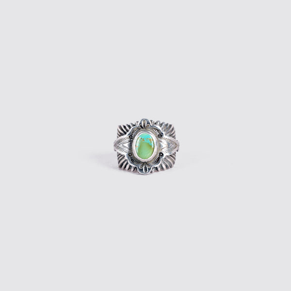 Sunburst Turquoise Ring (Green)