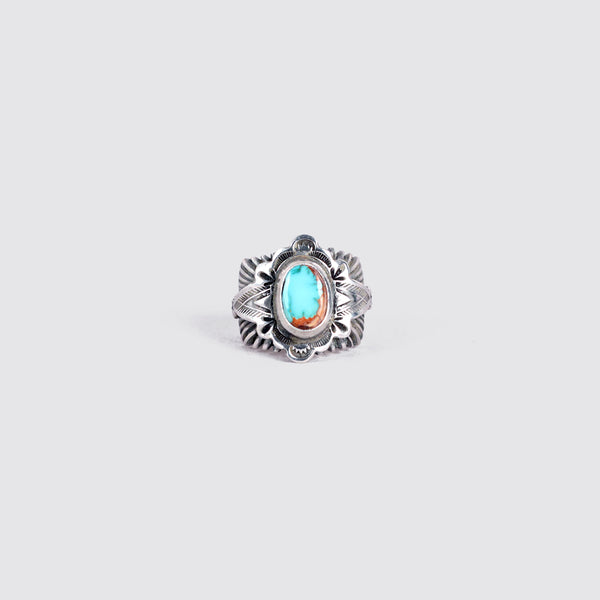 Sunburst Ring with Turquoise